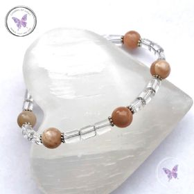 Sunstone & Clear Quartz Bracelet